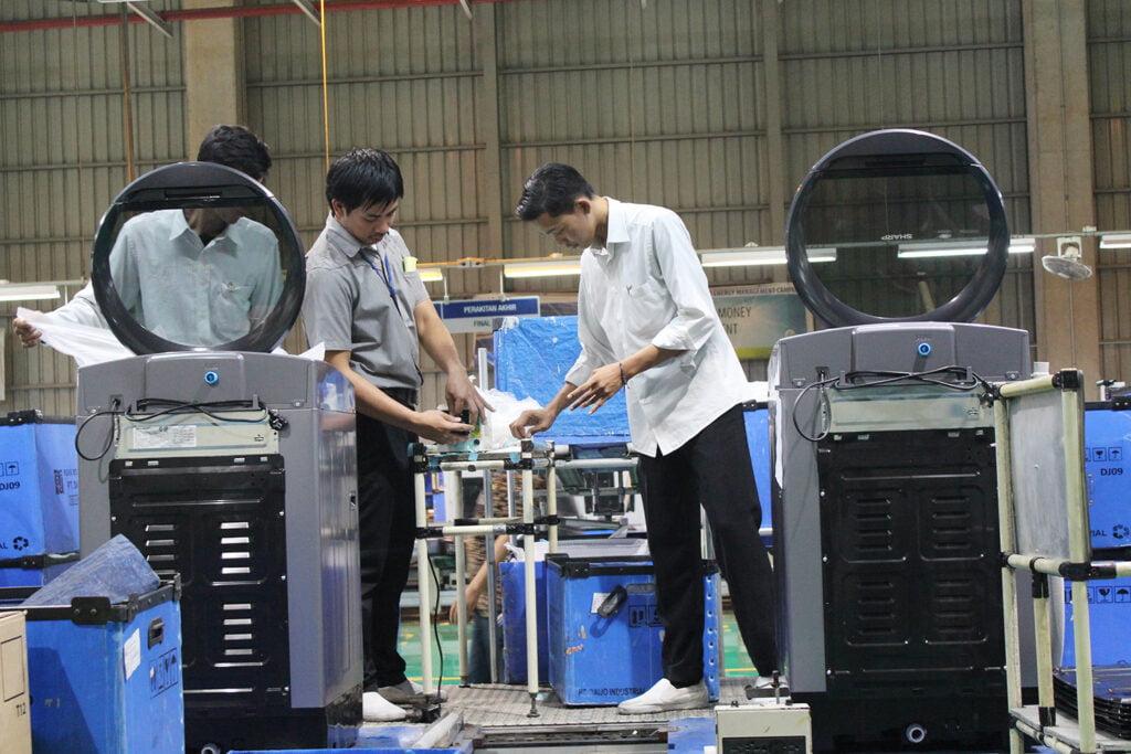 pabrik mesin cuci sharp