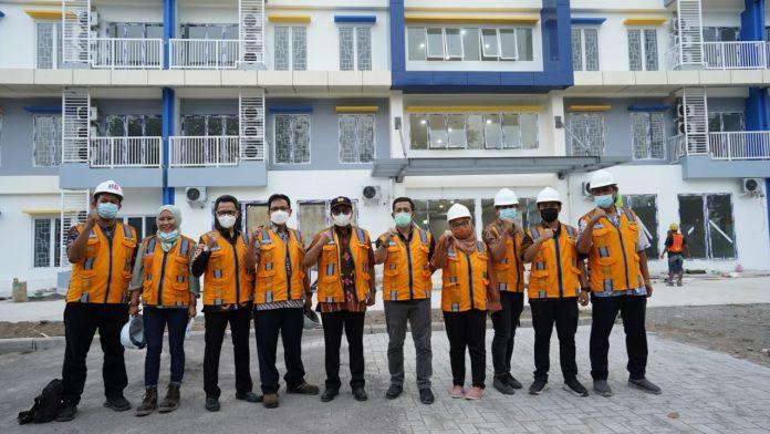 Progres pembagunan Rusun ASN Serayu Opak Yogyakarta sudah mencapai 92,416 % dan akan rampung sebelum akhir Juli tahun ini