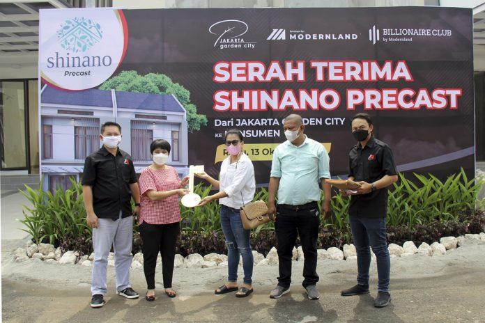 serah terima rumah cluster New Shinano Precast Jakarta Garden City